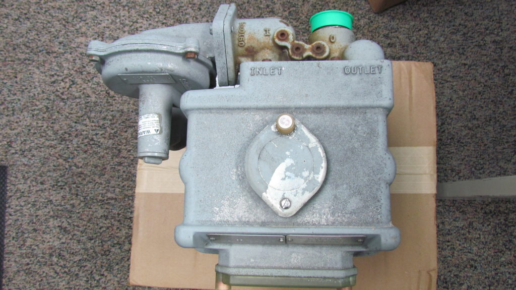 Photo (top view) of residential natural gas meter